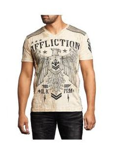 Men's T-Shirt Affliction Disjointed