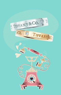 Tiffany Tip No. 27: Give your words a serious ring. Tiffany & Co. band ring in platinum and 18k rose gold with diamonds.