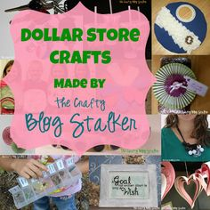 A round-up of Dollar Store Crafts made by the Crafty Blog Stalker. All include full step by step tutorials so you can join in on the fun.