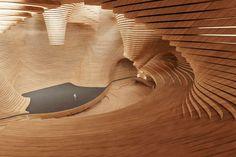 Revolutionary Opera Theater in Vienna, Austria by Tang Fei architecture architektur Acoustic Architecture, Theatre Architecture, Architecture Model Making, Wood Architecture, Organic Architecture, Architecture Details, Photo D'architecture, Architectural Design Studio, Architectural Presentation