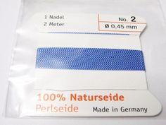 Edelsteine-Welt - Perlseide, Naturseide 0,45 Blau