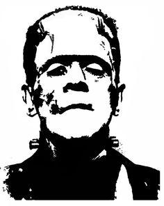 Frankenstein Black & White Art Print by olaholahola Pumpkin Face Carving, Skull Pumpkin, Pumpkin Carving Patterns, Pumpkin Stencil, Frankenstein Tattoo, Frankenstein Pumpkin, Black White Art, Black And White Drawing, Silhouette Clip Art