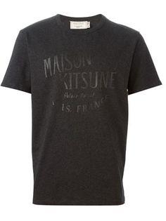 Maison Kitsuné Logo Print T-shirt - Bungalow-gallery - Farfetch.com