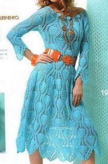 Crochet dress with diagram @Matt Nickles Valk Chuah red stitch Millard make me one! Lol ;) xxx
