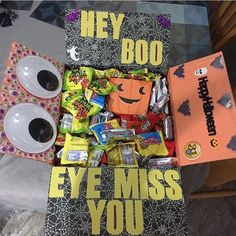 """""""Sending my love some Halloween spirit (it isn't just filled with candy )"""" thanks for sharing ~MZ Thoughtful Gifts For Him, Romantic Gifts For Him, Spirit Halloween, Halloween Fun, Halloween Snacks, Halloween Decorations, Halloween Geist, Halloween Gift Baskets, Fall Gift Baskets"""