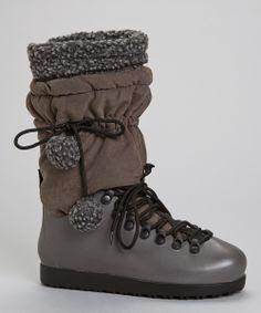 Gray Drawstring Boot