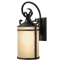 Hinkley Lighting 1145 20.75 Height 1 Light Lantern Outdoor Wall Sconce from the Casa Collection, Black (Aluminum)