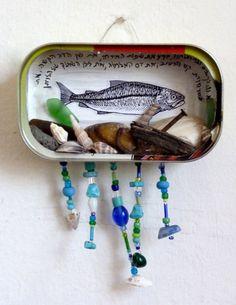 `Ocean in a tin box`  altered tin box    Arbel Egger