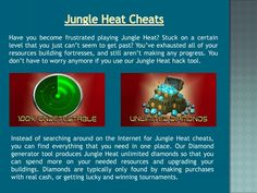 Jungle Heat Hack, More Fun, Create Yourself, Gaming, Android, Hacks, Oil, Diamond, How To Make