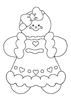 Free Christmas coloring pages - gingerbread girl coloring sheets ...