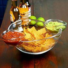 Chip and Dip Bowl with 2 Clip-On Side Dip Dishes bar@drinkstuff http://www.amazon.com/dp/B00Q8FBF64/ref=cm_sw_r_pi_dp_WJfEwb1CZQ39Q