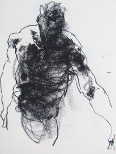 Dynamic Male Figurative Art  Drawing 254  9 x by derekoverfieldart, $40.00