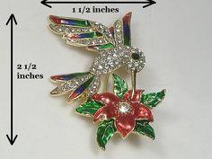 Crystalleria Hummingbird Pin/Brooch. Starting at $1 on Tophatter.com!