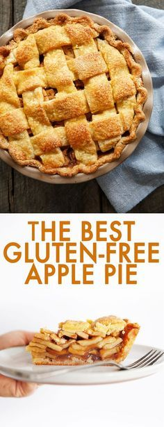 This Gluten-Free Apple Pie has a buttery crust with thinly sliced juicy apples laced with cinnamon and nutmeg. It's the perfect pie to serve during the holidays or a fun weekend baking project to mark the fall season! It's made using unrefined sweeteners Gluten Free Treats, Gluten Free Baking, Gluten Free Recipes, Best Gluten Free Desserts, Eggless Desserts, Easy Desserts, Keto Recipes, Dessert Recipes, Dinner Recipes