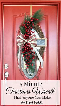 "Christmas, DIY, Quick DIY projects 				 						 							5 Minute Christmas Wreath That Anyone Can Make! 			 						November 21, 2016 			 							 		  					 			 						 												 						 	 	 		 			 						 				We are taking it back to my roots today.  Did you guys know that long before I ever had a blog, or used a saw, or even knew Pinterest was a thing (when exactly did it become a ""thing?""), I made my own wreaths?  Looking back, I guess this was my first dabble into the DIY world.  It all…"