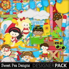Digital Scrapbooking Kits | Pool Time Fun Combo Pack-(SPD) | Kid Fun, Seasons | MyMemories