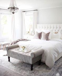 Home Decor Bedroom .Home Decor Bedroom Bedroom Apartment, Home Decor Bedroom, Modern Bedroom, Bedroom Furniture, Glam Bedroom, Furniture Design, Chic Bedroom Ideas, Bedroom Ottoman, Furniture Mattress