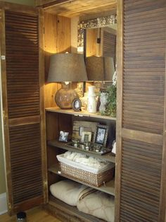 They took a cabinet and lit it from the inside out. It brought what could be a dark corner to life and let  you see what was stored in there!