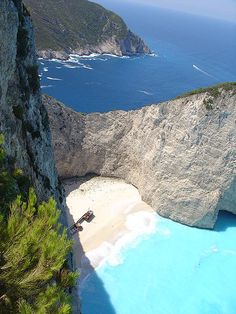 Navagio Beach – Zakynthos Island, one of the most beautiful beaches in Greece. Places Around The World, Oh The Places You'll Go, Great Places, Places To Travel, Places To Visit, Dream Vacations, Vacation Spots, Zakynthos Greece, Reims