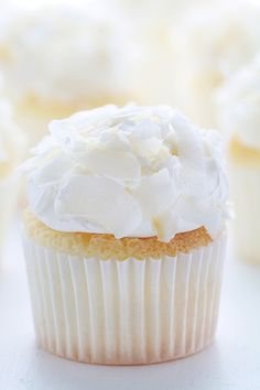 Coconut Angel Food Cupcakes ~ http://iambaker.net