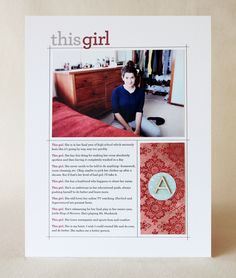 Layout Share: This Girl + a video tutorial | CZ Design