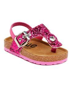 Love this Fuchsia Fatia Glitz Sandal by Blue Suede Shoes on #zulily! #zulilyfinds
