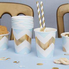 fête d/'anniversaire Jaune Vichy Paper Cups-Baby Shower Pâques Rose Bleu