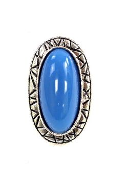 Add a unique touch with this stylish blue oval ring with your outfits and be fashionable.   Content Metal  Colors:Blue, Black, Red   Imported