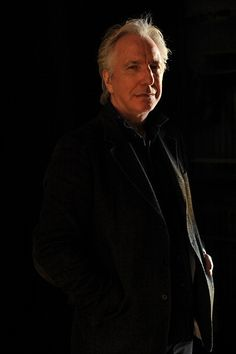 Alan Rickman -- another great photo that needs a date.