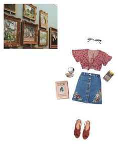 """Art"" by cassie-paulke ❤ liked on Polyvore featuring Miss Selfridge, H&M and Ray-Ban"