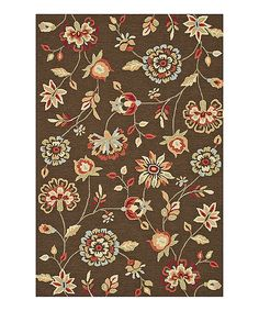 Look at this #zulilyfind! Brown Summerton Rug by Loloi Rugs #zulilyfinds