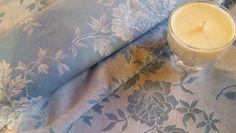 Toile à matelas bleue bougie soja