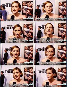 Emma on being asked to be apart of the movie This Is The End