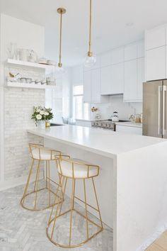 Luxury Kitchen Design, Kitchen Room Design, Home Room Design, Home Decor Kitchen, Interior Design Kitchen, New Kitchen, Home Kitchens, Kitchen Ideas, Condo Kitchen