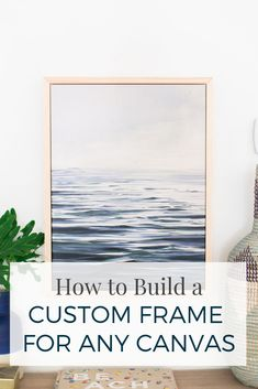 DIY Framed Canvas - Making Home Base #diyproject #tutorial #homedecor #howto #wallart #customframe #diy
