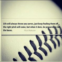 On baseball, writing, and life.