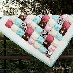 Sonrisa Baby Puff Quilt by HoneybearLane on Etsy