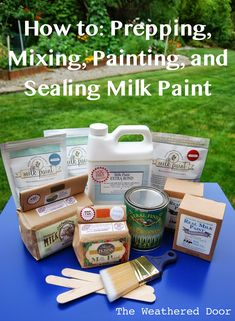 Tips on Prepping, Mixing, Painting and Sealing Milk Paint - The Weathered Door