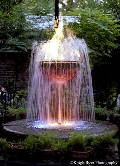 Pat O' Briens Courtyard, flaming fountain A must see, beautiful courtyard and you have to get a Hurricane drink.