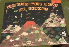 100 days of school project - 100 dinosaurs