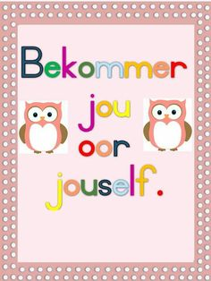 Teaching Tools, Teacher Resources, Afrikaans Language, Kitten Party, Afrikaans Quotes, Little Pigs, Preschool Learning, Journal Covers, Creative Kids