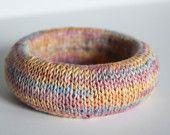 Handknit flax bangle from Supermarno Studio via Etsy.com