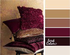Сочетание с рубиновым цветом Colour Schemes, Color Combinations, Gold Color Combination, Fixer Upper House, Chameleon Color, Rustic Chic Decor, Space Interiors, Color Palate, Home Room Design