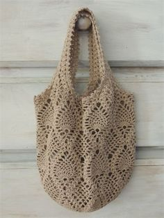 Diy Crafts - Thank you for stopping by!This listing is for a crocheted net bag. Crochet Pouch, Filet Crochet, Crochet Gifts, Knit Crochet, Crotchet Bags, Knitted Bags, Crochet Handbags, Crochet Purses, Crochet Market Bag