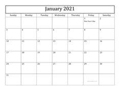2021 Printable Calendar With Holidays | Free printable ...