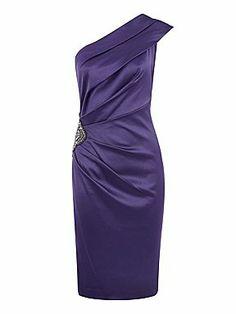 Planet Purple one shoulder dress
