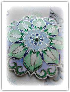 'Mir'acle Art Inspirations: Waterlily mandala stamp from Chocolate Baroque