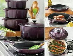 Eggplant cast iron gorgeous