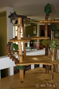 Why a doll house, why not a tree house?  I can't wait to make one of these for my kids.