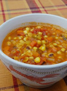Sweet corn and smokey peppers